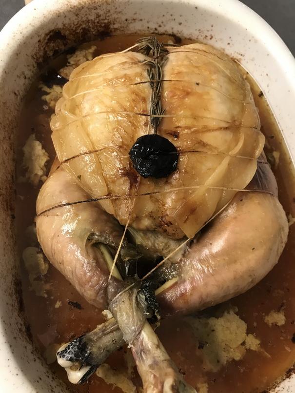 Chapon farci foie gras